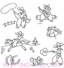 Cowboy embroidery designs
