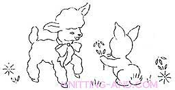 Lamb and bunny embroidery designs