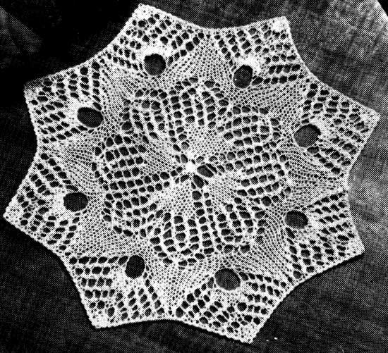 Lace knit doily