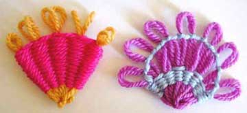 Fans made on a flower loom