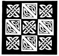 Nine patch celtic knot machine embroidery design