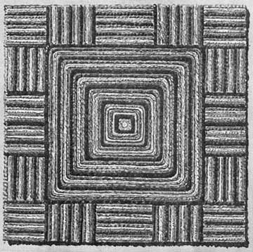 Square rug to make with the SIngercraft guide