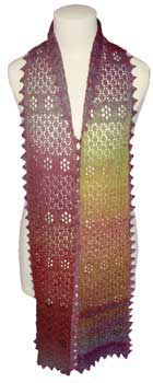Lace knit scarf with free knitting pattern