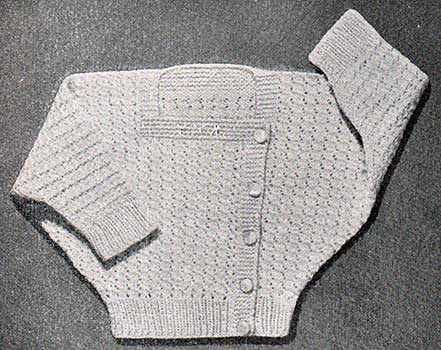 dolma sleeved baby cardigan