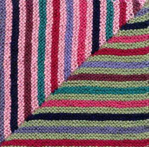 Magic Stripes Afghan Square