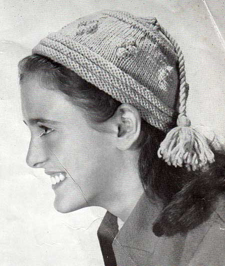 Free Knitting Pattern, Mandarin hat for older girls