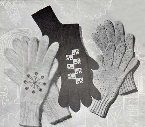 Free Knitting Pattern for Maple Lady's gloves with optional embroidery or stranded colourwork