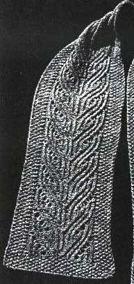 Travelling stitch seaman's scarf