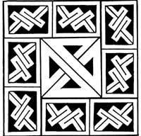Celtic maze machine embroidery design