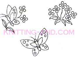 butterfly and floral embroidery designs