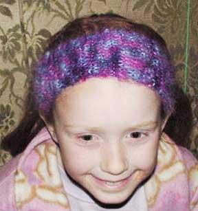 Quikc knit mohair headband