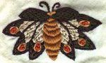 Moth Hand Embroidery Design