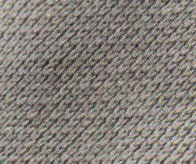 closeup of the pattern stitch