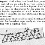 """How to Use the Singercraft Fagoter Without Stay Lines from """"Sewing for the Home"""" 1946"""