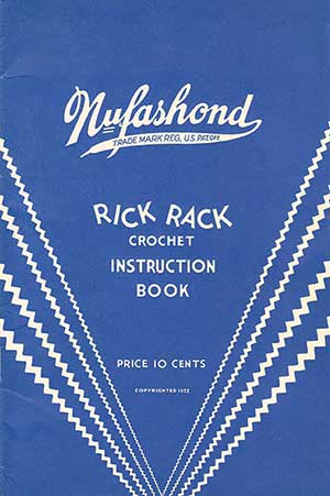 cover of the nufashond ric-rac crochet book