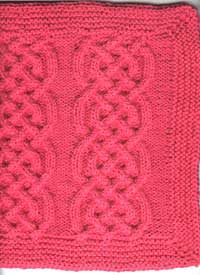 Washcloth made from Oddball-Sampler Afghan Square