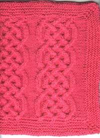 Washcloth made from Oddball-Sampler Afghan Square
