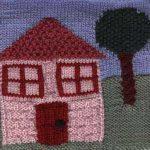 Oddball Sampler Afghan Square #22: Our House
