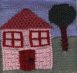 Our House afghan square