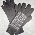 Pine Gloves with Fair-Isle Backs