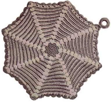 Round pinwheel potholder
