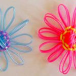 Plastic Loomed Flowers (made from scoubidous, s'getti strings etc)