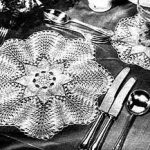 Knitted Lace Luncheon Mats