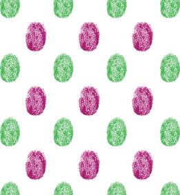 Finger print polka dots