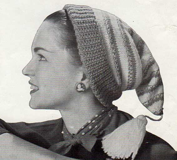 Vintage stocking cap for women