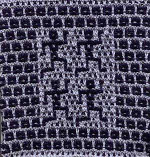 Mosaic knit blanket square