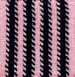 Pyjama Stripes Afghan Square