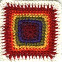 Rainbow Crochet Afghan Square