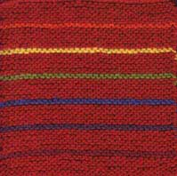 Rainbow Garter Stitch Afghan Square