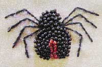 Bead embroidered spider