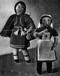Red Riding Hood and Red Cross Nurse Dolls