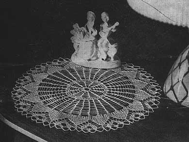 Vintage cobweb knit lace doily