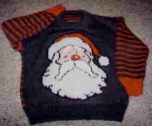 Santa on a finished jumper