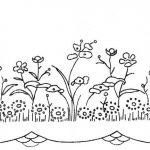 Scalloped Floral Border c1940