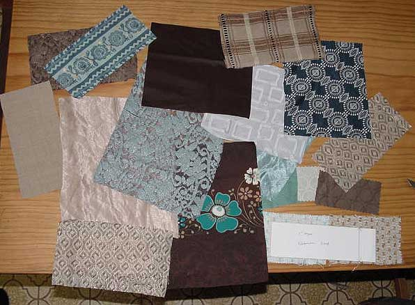 Patches cut from a range of fabrics