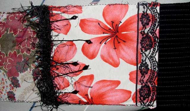 Beaded fronge and lace embellishments