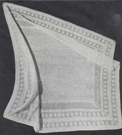 Traditional shawl with lace border and fine lace centre