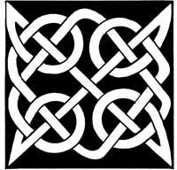 Bold celtic knot machine embroidery design