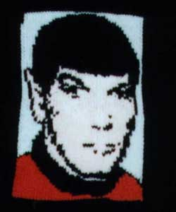 Knitted Spock from Star Trek