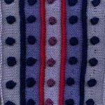 Oddball Sampler Afghan Square #15: Spots & Stripes