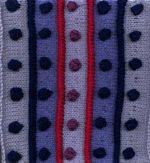 Spots & Stripes Afghan Square
