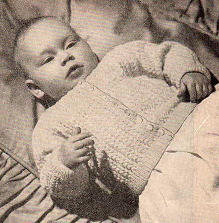 Textured baby cardigan