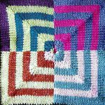 Psychedelic Squares Afghan: Stocking St