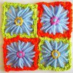 Making 8 Spoke Square Motifs on a Round Flower Loom