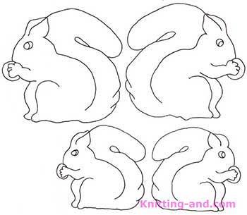 Vintage squirrels emrboidery pattern