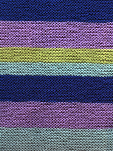Garter stitch knitting with stripes